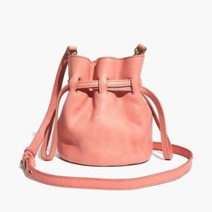 Pink Crossbody Purse Madewell Drawstring - Leather
